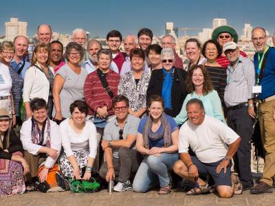 Participants in the 2016 Mosaic of Peace Conference in the Middle East. Photo courtesy of Presbyterian Peacemaking Program.