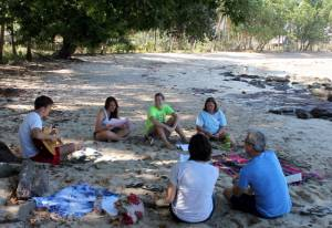 YAVs during a morning devotion in one of the retreats facilitated by PC(USA) mission co-workers Cobbie and Dessa Palm