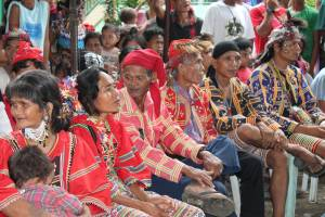 The Lumad leaders meeting at the UCCP Haran Mission House Compound