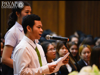 Pharmacy student thanks Payap and suggests more scholarship help