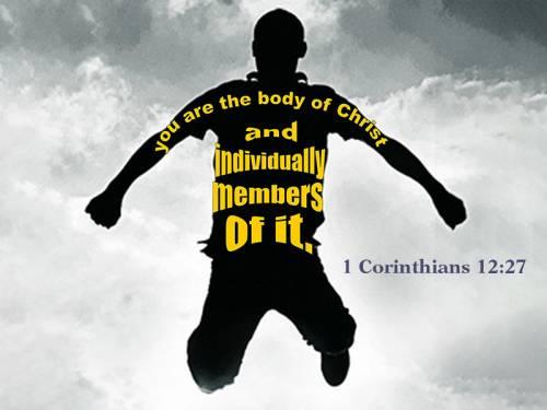 Bible quote of 1 Corinthians 12:27