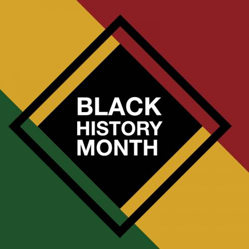 Graphic that says Black History Month