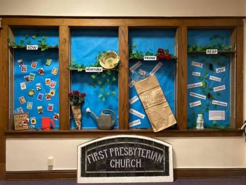 Church display case
