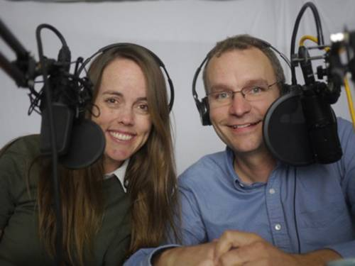 Megan and Dave Collins host a podcast