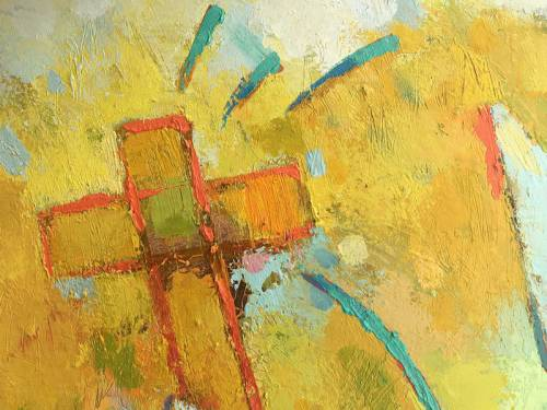 Abstract painting of a cross