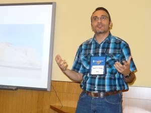 Rami Al Maqdasi speaks at Ivyland. Presbyterian Church as part of the International Peacemaker Program. —Photo courtesy Ivyland Presbyterian Church