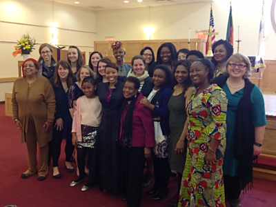 Fourteen young women from across the PC(USA) participated in the 60th United Nations Commission on the Status of Women. Delegates were sponsored by the Racial Ethnic & Women's Ministries of the Presbyterian Mission Agency. —Jewel McRae