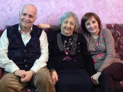 Rev. F of the Baghdad Church with his mother and sister, welcome us to their family home.