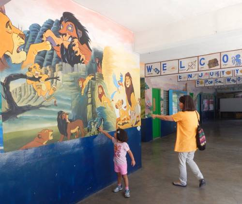 Entranceway to our daughter's new school