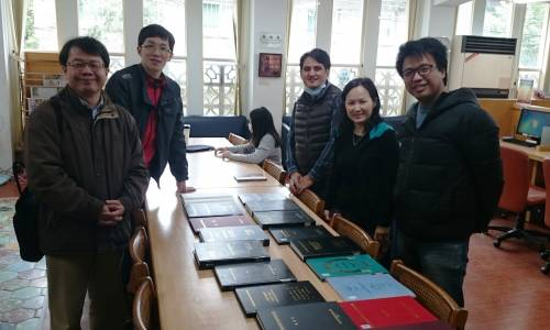 Five pastors log some library time