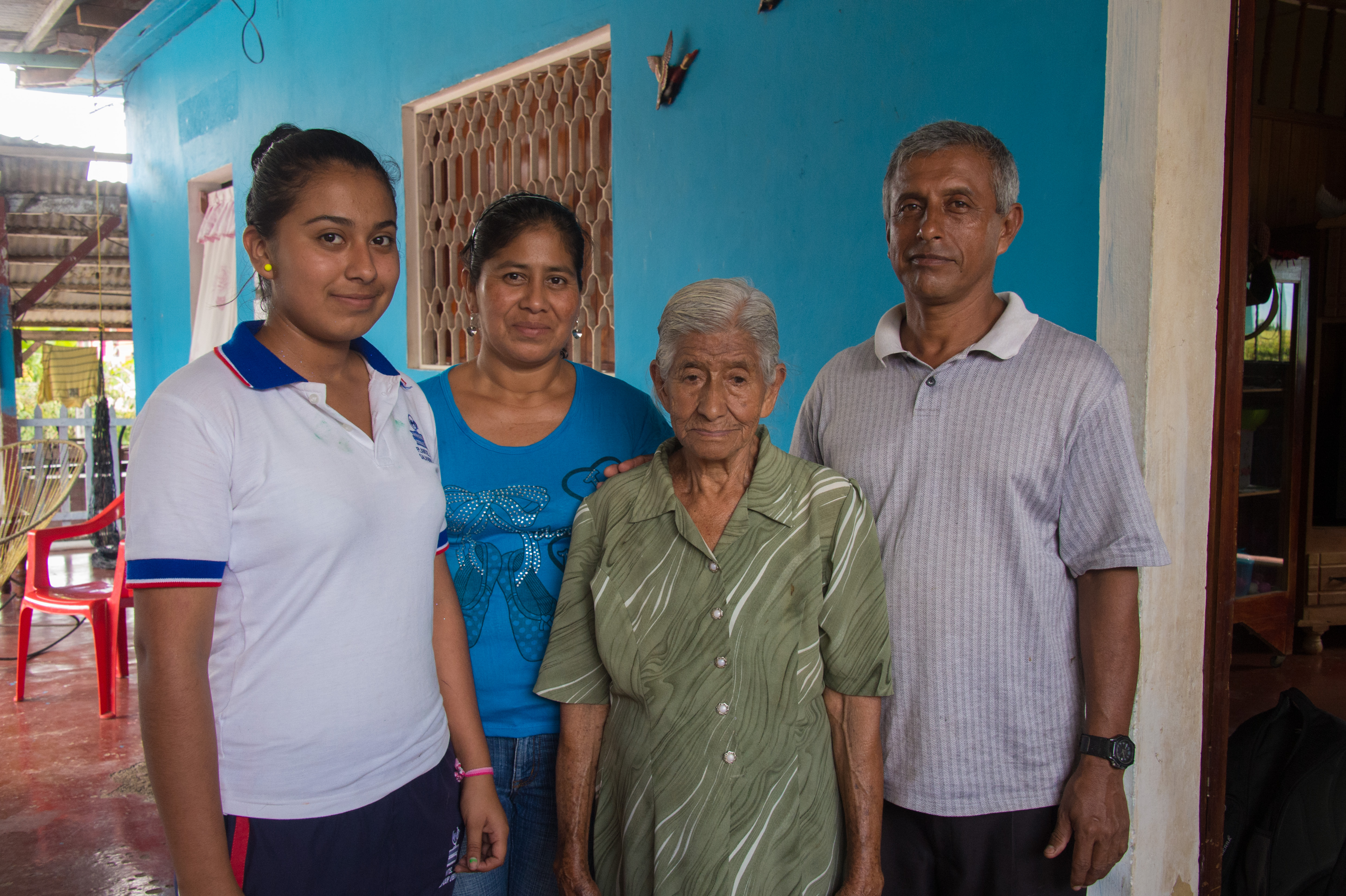 Founding member Soraida Santiago with her son Mundo, daughter-in-law Ydelda and granddaughter Nilda.