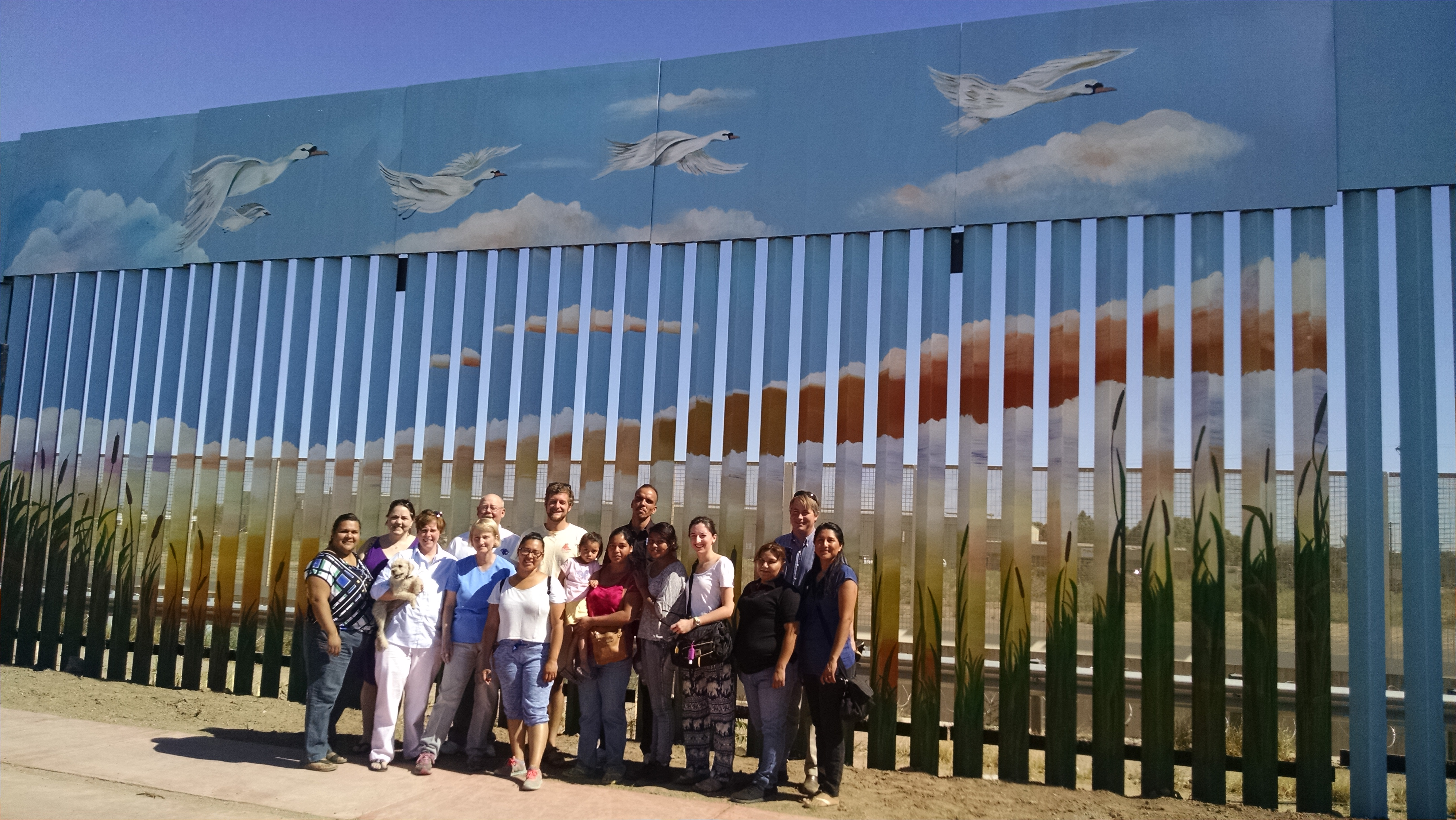 Delegation from Central PC Atlanta with our partners from the drug rehab center after biblical reflections at the wall