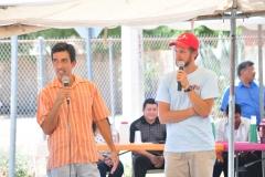 CJM Dedication: Jaime Escobar speaking at the Cafe Justo y Mas dedication in Agua Prieta, Sonora (photo: Cristobal Lohr Castelo)