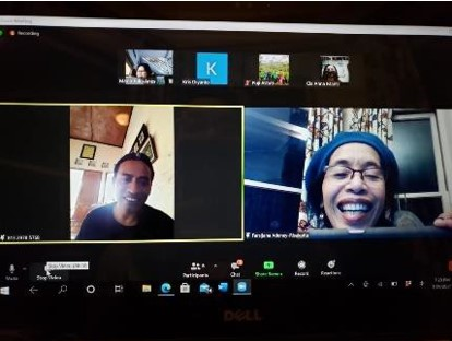 An online meeting with the staff of HAS Cooperative