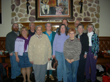 A photograph with congregation members at First Presbyterian Church in Phoenix, PA.