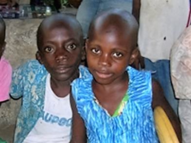 Ditekemena program children Dominique and Maguey were sheltered by the Presbyterian Church of Congo during recent violence in Kananga. We continue to seek to place them with adoptive Congolese families.