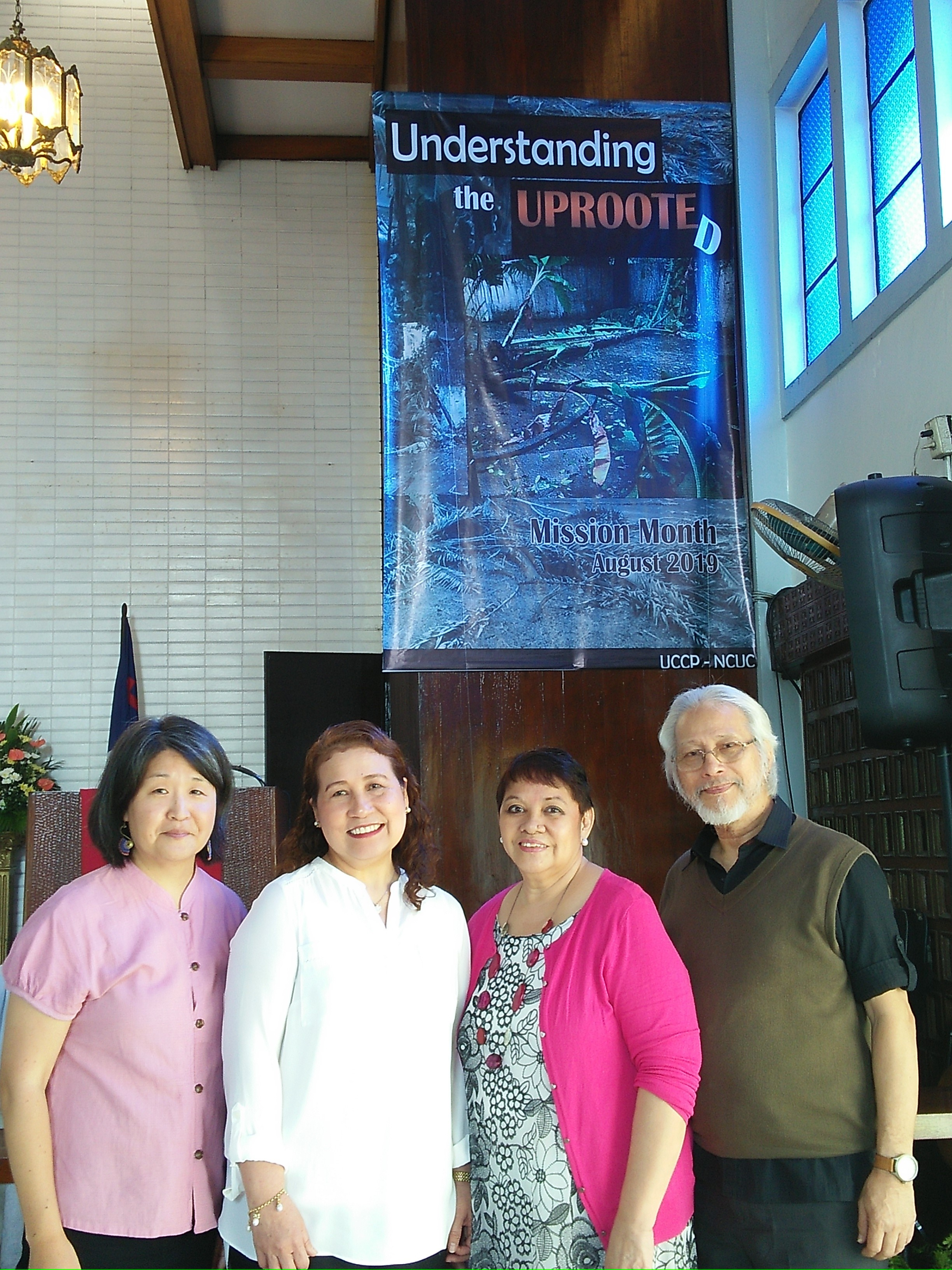 Kickoff to Mission Month with church leaders Loree, James, and Grace.