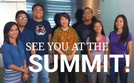 Co-organizers of the April 29 Filipino National Migrants Summit, from left to right: Snap Mabanta, Nar Reyes, Mervin Toquero, Cathy Chang, Lao Castillo, Yvah Capinig and Cherry Clemente.