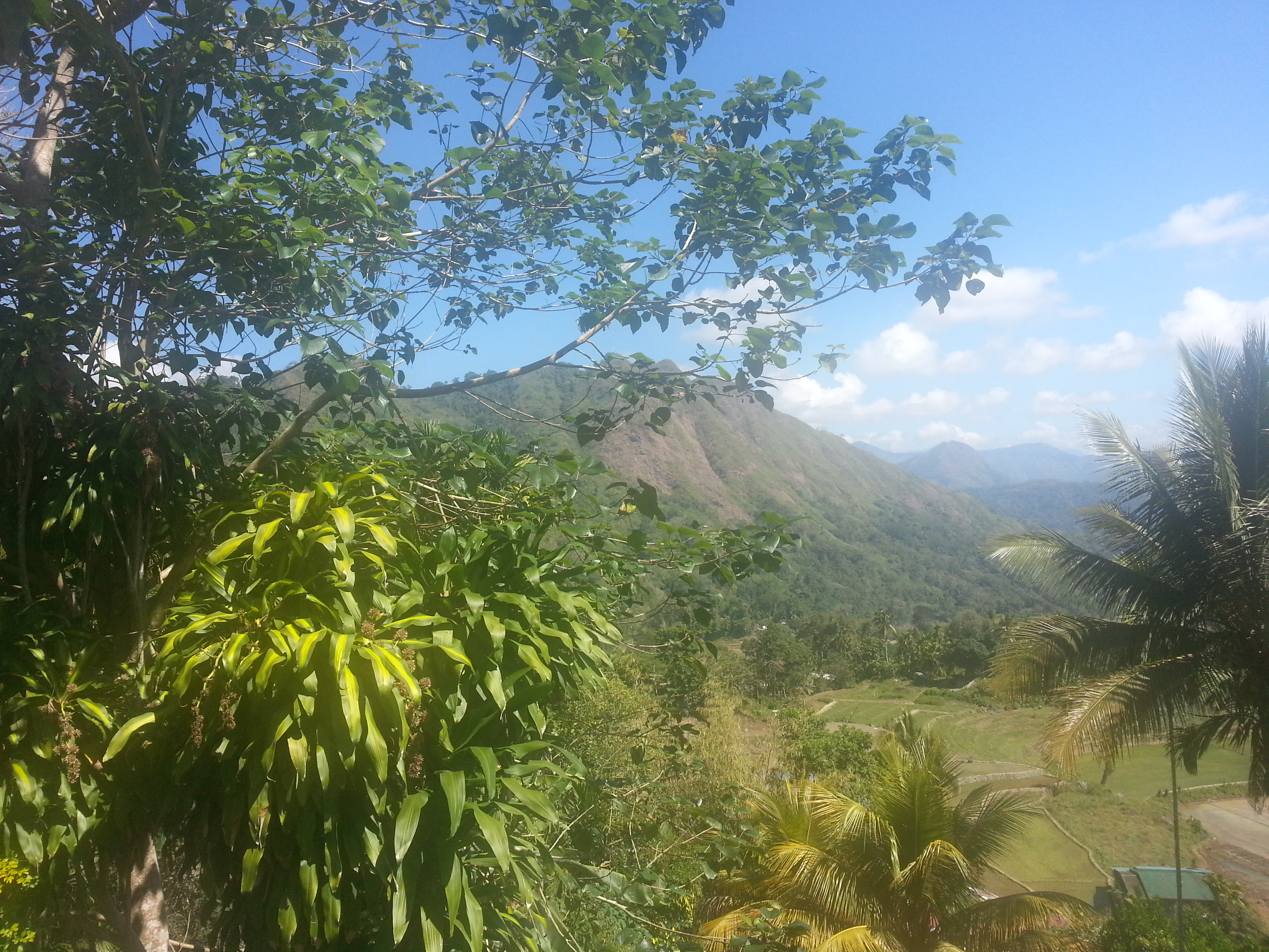 Cordillera mountain range, view from Ifuguao.