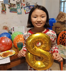 Birthday festivities began with a pancake breakfast for our daughter Aurelie.