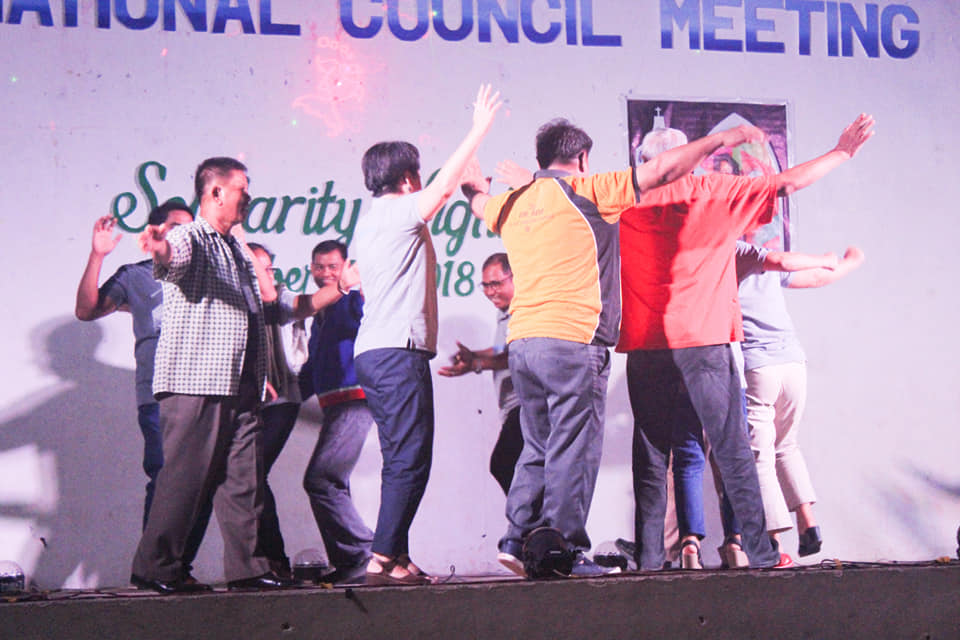Song and dance with new friends from North Luzon during Solidarity Night.