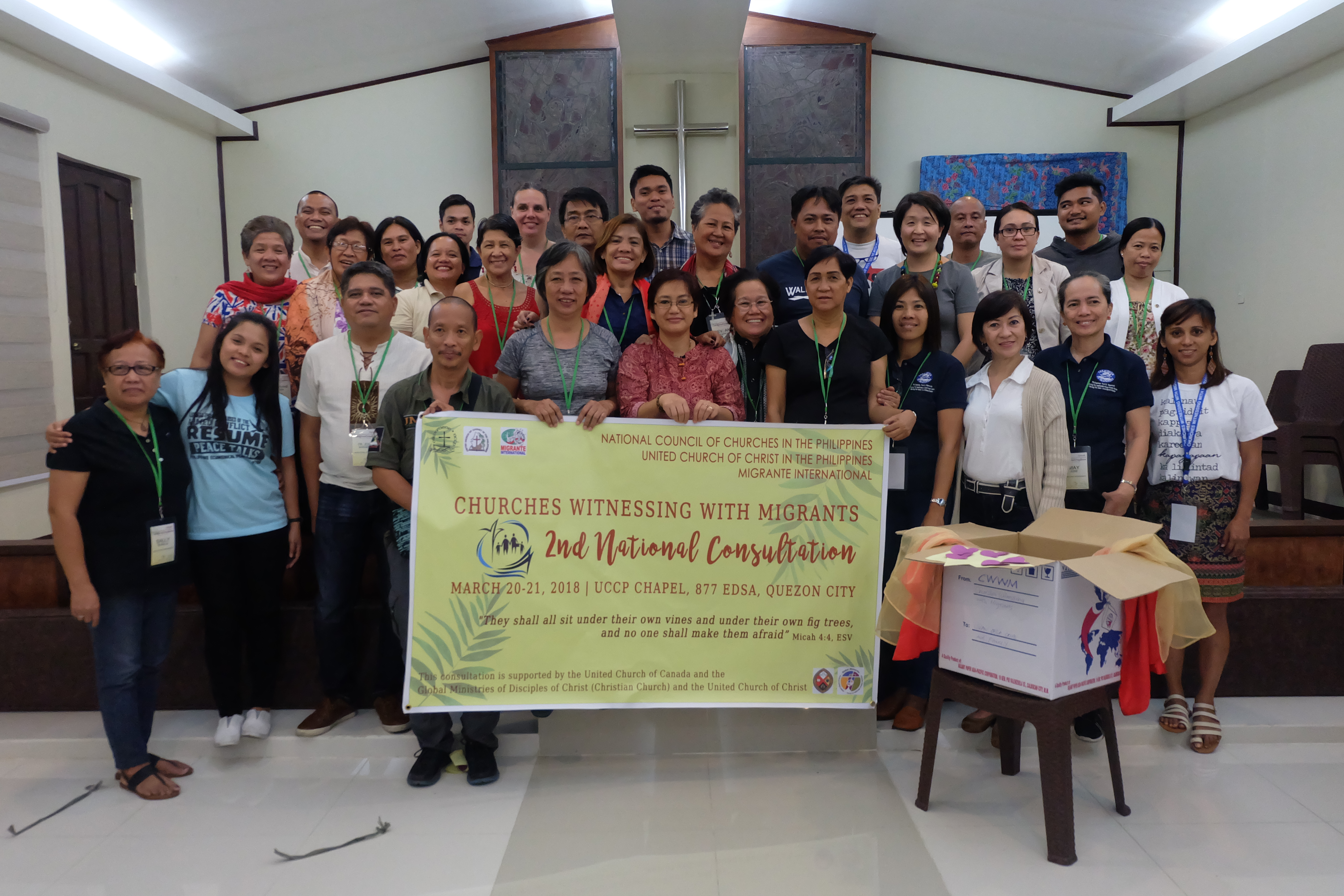 Participants from the CWWM national consultation in late March 2018. (photo credit:  National Council of Churches in the Philippines)