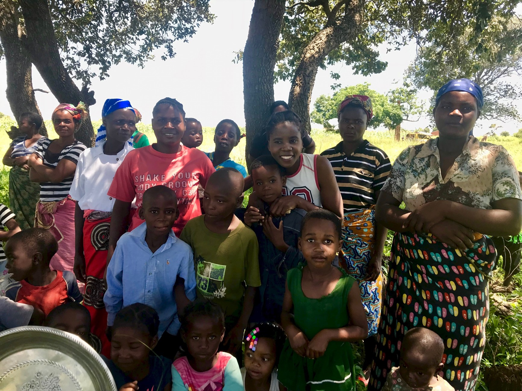 Just a few of the many people who came to watch the drilling of the borehole. With the drilling of the borehole, they now realize that the construction of the new rural health center in Phalaza will soon be a reality thanks to the generosity and leadership of Lexington Presbyterian Church in Lexington, VA.