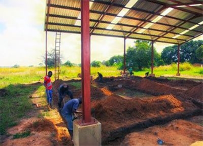 Workers are now digging the foundation footings for the Chasefu AIGA Storage Facility.