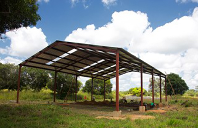 The roof is up on the Chasefu AIGA Storage Facility.