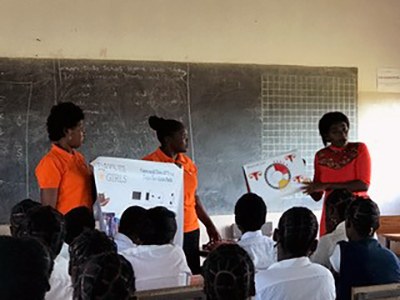 Thanks to gifts of kits from several churches in the U.S., our CCAP Health Department Days for Girls Enterprise Team presented 71 girls with education about feminine hygiene and reproductive health and distributed washable, reusable feminine hygiene kits to over 70 girls at Hoya Secondary School.