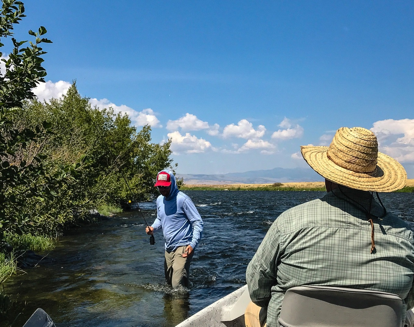 Charles and our guide, Eric, on the Upper Madison River, Montana.