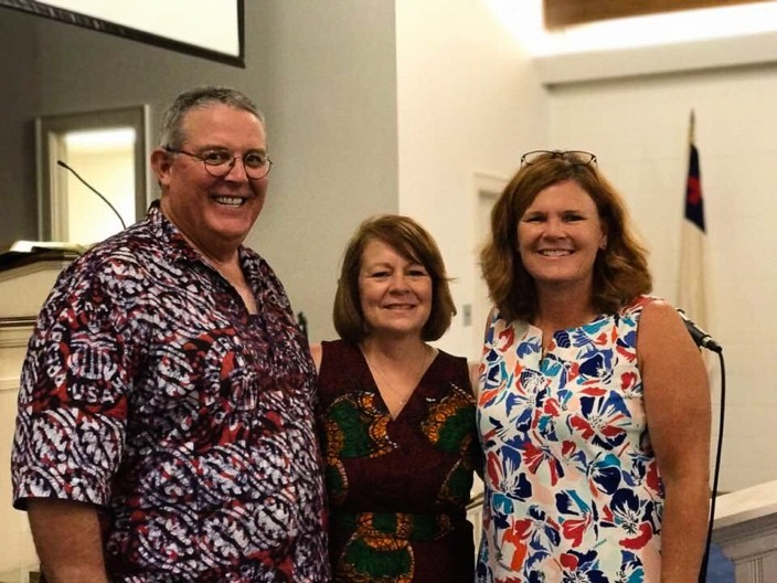 We visited lots of new churches and made new friends like at Fieldstone Presbyterian Church in Mooresville, N.C. where we stayed with their pastor, Inger Manchester and her husband Lee.