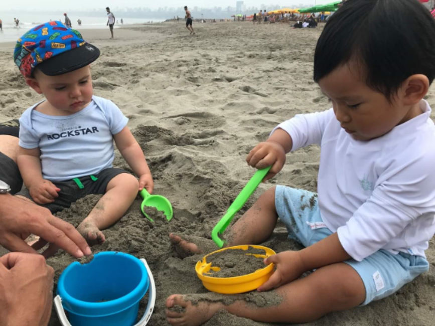 Leandro and Thiago enjoying some time in the sand. Photo courtesy of Jed Koball