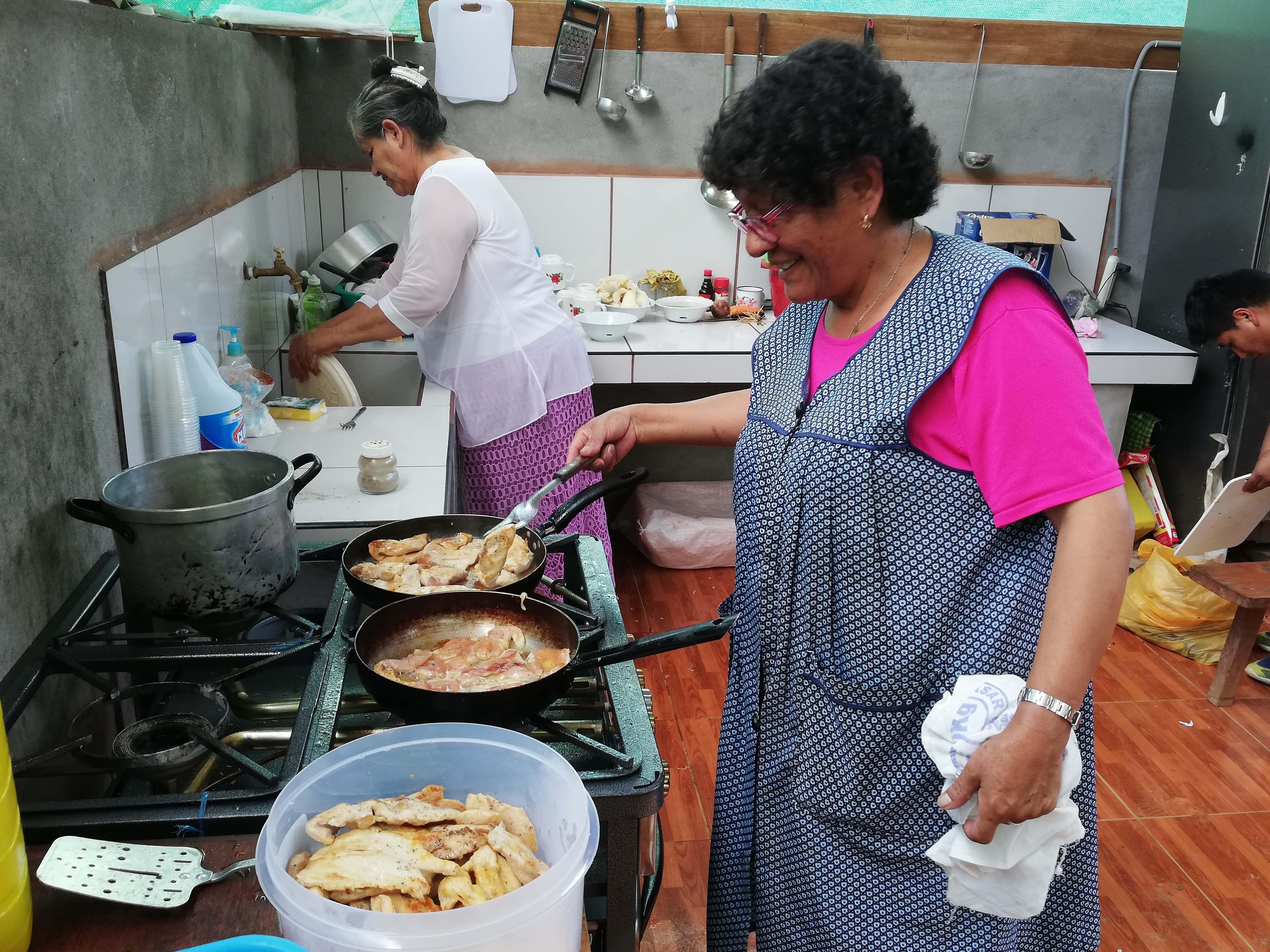 Jesusa, thriving in her other ministry of providing US teams with delicious food during their mission experiences in Peru.