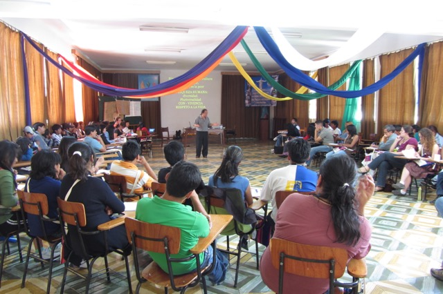 Environmental Youth Congress in Cochabamba, Bolivia, with representatives from four countries.