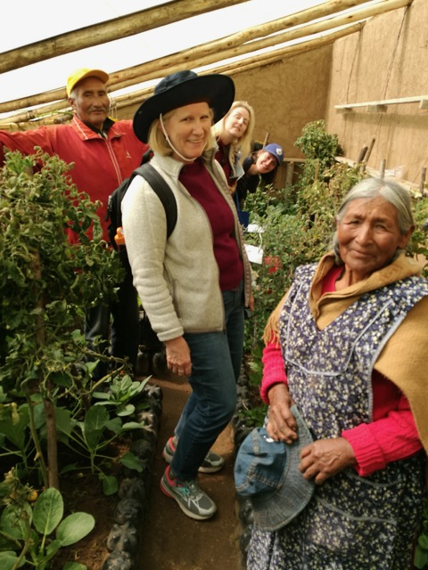 Delegation visit to El Alto, Bolivia, to learn about community urban gardening (2017).