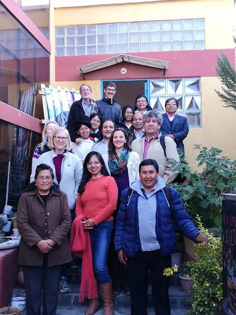 UMAVIDA members with delegation participants in La Paz, Bolivia.