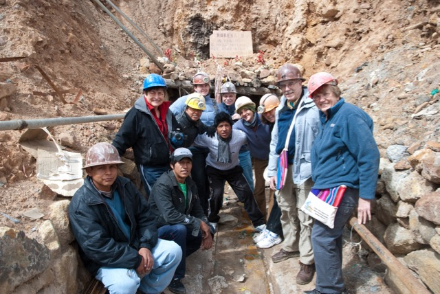 Delegation visit to the mines in Potosí, Bolivia (2012).