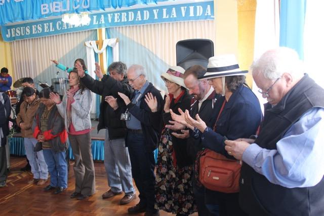 Delegation visit to a Methodist Church service (2014).