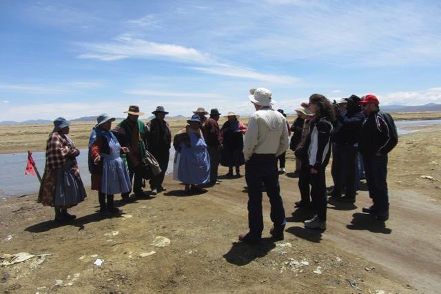 Delegation visit to Machacamarca, Bolivia, to talk with communities affected by mining (2014).