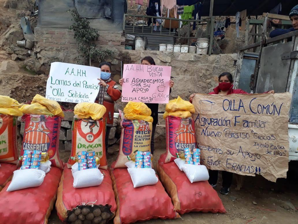 Olla 2 - Food products that are received with each Olla Común distribution by The House of God Presbyterian Church. Photo taken by Pastor Pedro Pablo García.