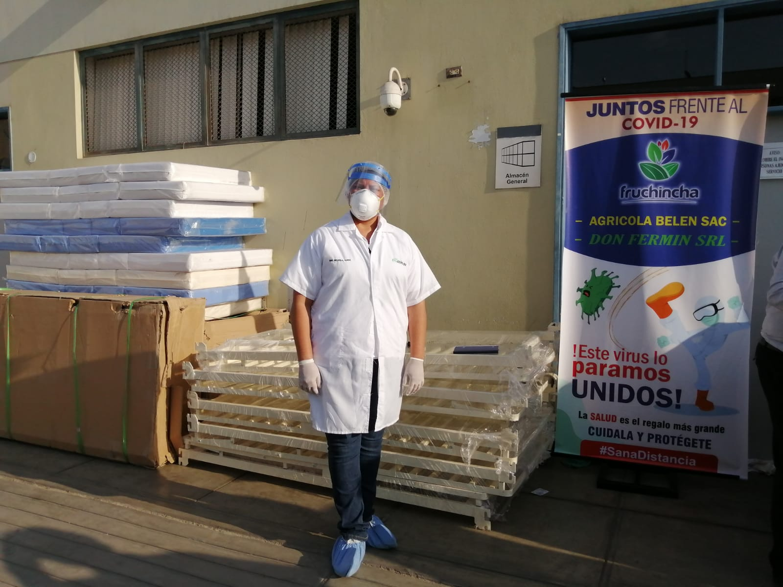 Campaña mayo - CEDEMUMEP was part of a Biosecurity Campaign that delivered medical equipment to communities and hospitals in need.