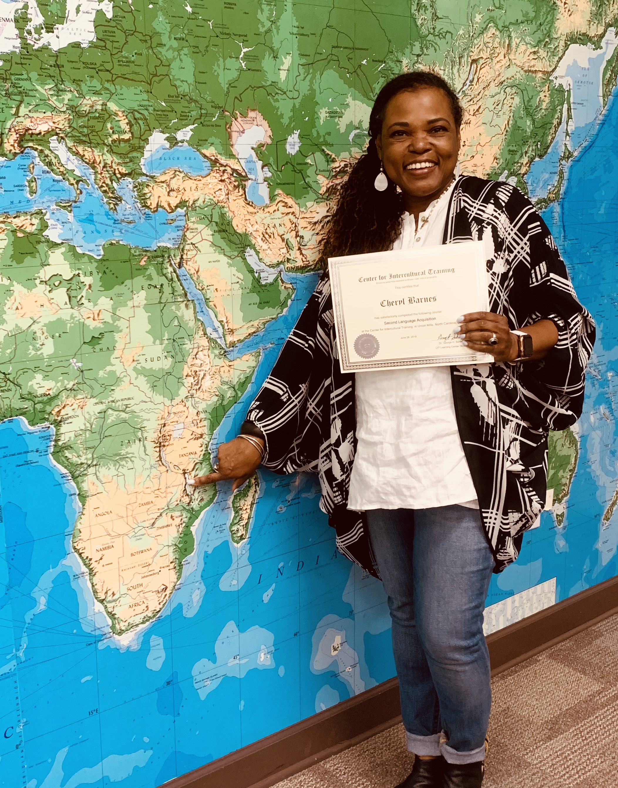 Second language acquisition diploma from Center for Intercultural Training, Union Mills, NC.