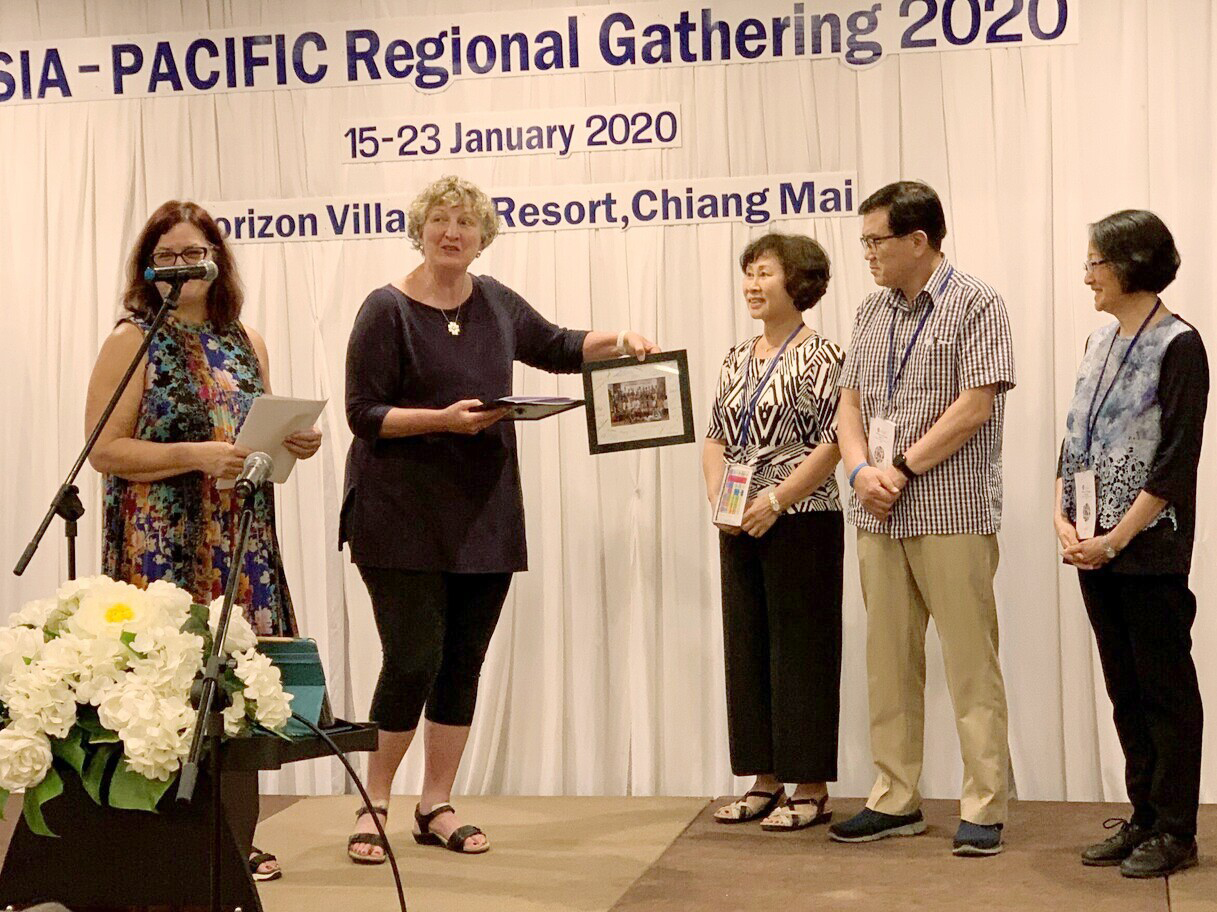 Our retirement ceremony at the Regional Gathering.