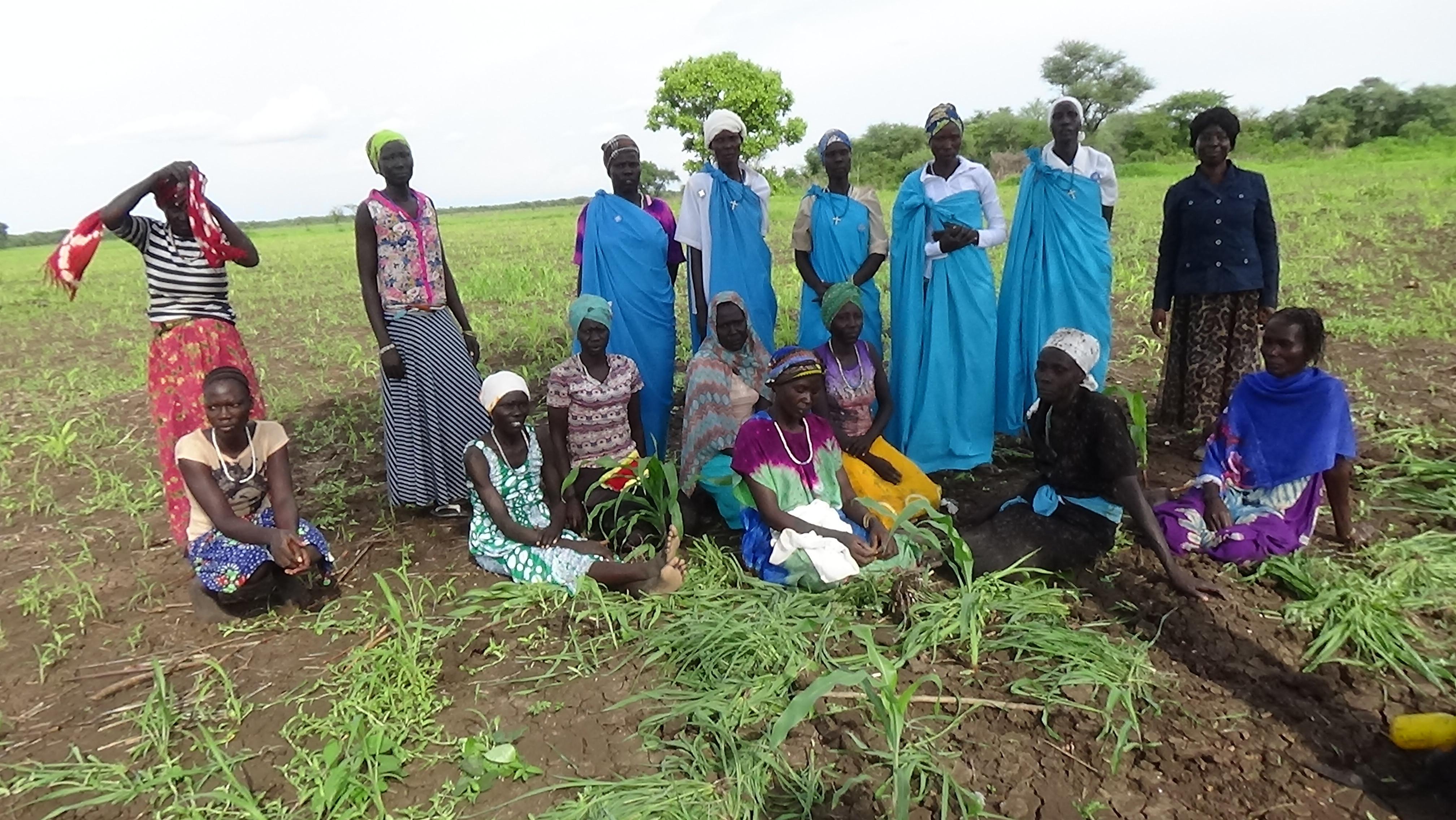 Leaders of the PCOSS Women's farm in Otala.