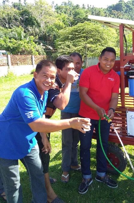 Staff enjoy clean drinking water flowing at Dansalan College.