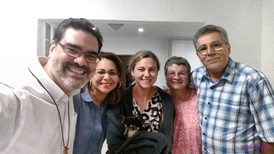 From left, Rev. José M. Capella-Pratts of First Hispanic Presbyterian Church in Miami; Elder Vilmarie Cintrón-Olivieri, Co-Moderator of the 2018 PC(USA) General Assembly; Rev. Kim Robles from Miami Shores Presbyterian Church; Josey Sáez; and David Cortés.