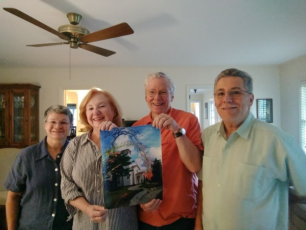 Josey Saez, Linda & Mark de Castrique from Myers Park Presbyterian Church, Charlotte, NC, and David Cortés-Fuentes.