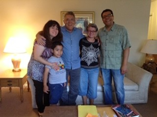 With friends at the Louisville Furlough apartments where we stayed during our time in the US.