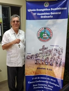 David, at the offices of the Evangelical Dominican Church, Santo Domingo, DR